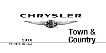 Chrysler town and country owners manual   ebay.
