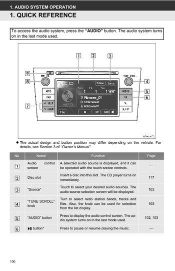 2013 toyota highlander toyota universal display audio system rh carmanuals2 com toyota highlander 2013 service manual toyota highlander manual 2015