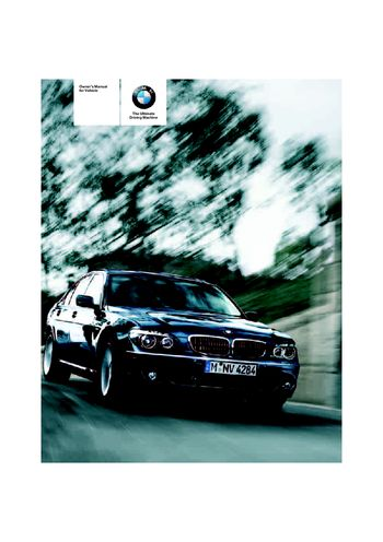 2006 bmw 750i user manual