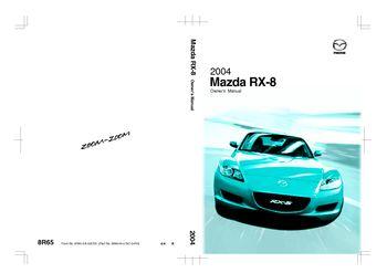 2004 Mazda Rx 8 Owner S Manual Pdf 347 Pages Rh Carmanuals2 Com 2004 RX