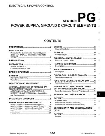 2013 nissan altima power supply ground circuit elements 2013 nissan altima power supply ground circuit elements section pg 74 pages