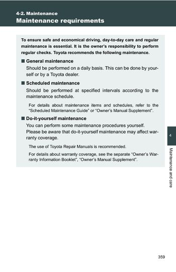 2011 Toyota Camry   Maintenance (7 Pages)