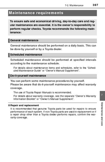 Toyota Maintenance Schedule Pdf   Asli.aetherair.co