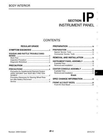 2010 nissan cube instrument panel section ip pdf. Black Bedroom Furniture Sets. Home Design Ideas
