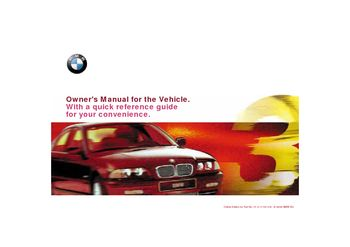 2001 bmw 325i owner s manual pdf 211 pages rh carmanuals2 com owners manual bmw 325i 2001 owners manual 2006 bmw 325xi