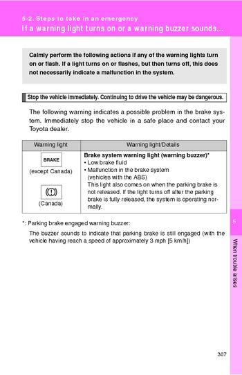 2009 Toyota Yaris  Steps to take in an emergency  PDF Manual 36