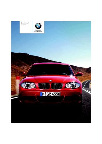 bmw 128i owners manual 2009