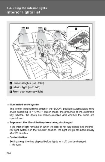 download 2008 toyota camry hybrid using the interior lights pdf manual 3 p. Black Bedroom Furniture Sets. Home Design Ideas