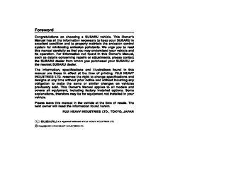 subaru wrx owners manual pdf