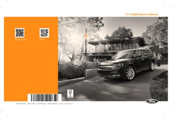 2014 Ford Flex Owner S Manual Pdf 554 Pages