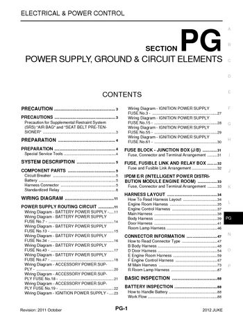 2012 nissan juke power supply, ground \u0026 circuit elements (section 2005 Ford Freestar Fuse Box Diagram 2012 nissan juke power supply, ground \u0026 circuit elements (section pg) (97 pages)