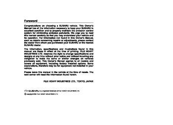 Subaru legacy / legacy outback owners manual   2003 – 2009   trade me.