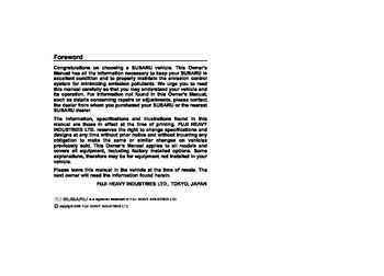 2007 subaru impreza owner s manual pdf 364 pages rh carmanuals2 com subaru impreza 2007 owners manual pdf subaru impreza 2007 service manual