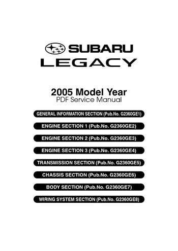 2005 subaru legacy service manual pdf 4610 pages rh carmanuals2 com 2003 subaru baja service manual pdf 2003 subaru baja service manual pdf