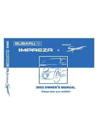 2002 subaru impreza owner s manual pdf 390 pages rh carmanuals2 com Imprezza Stock Rims Impreza Hatchback vs Sedan