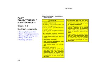 1998 Toyota Rav4 Electrical Components Pdf Manual 12 Pages