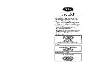download 1996 ford escort owner 39 s manual pdf 387 pages. Black Bedroom Furniture Sets. Home Design Ideas
