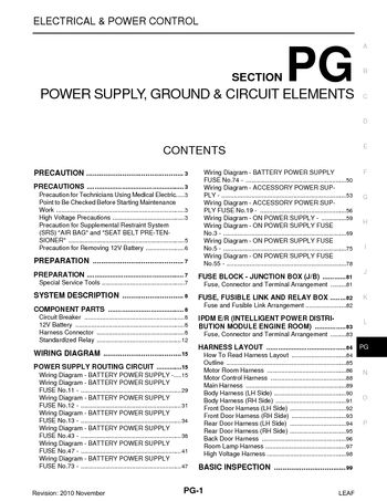 2011 nissan leaf power supply ground circuit elements section rh carmanuals2 com Nissan Schematic Diagram Nissan Frontier Wiring-Diagram