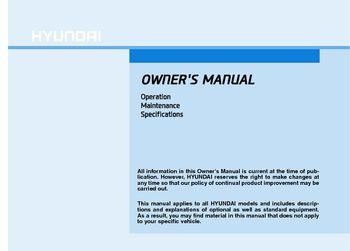 hyundai sonata owners manual   pages