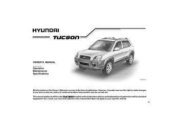 Hyundai tucson 2005-2009 oem service repair manual.