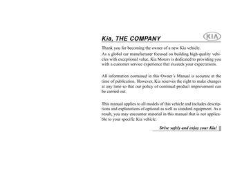 2014 Kia Optima Hybrid Owner S Manual Pdf 474 Pages