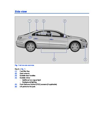 2013 Volkswagen CC - Owner's Manual - PDF (353 Pages)