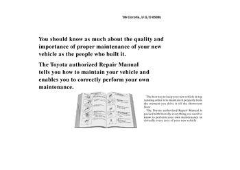 2006 toyota corolla repair manual information pdf 2 pages rh carmanuals2 com 2006 toyota corolla repair manual free pdf 2006 corolla repair manual free download