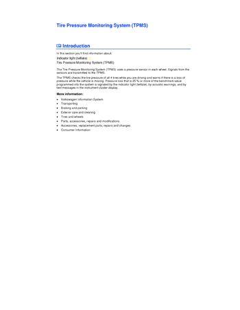 tire pressure monitoring system pdf