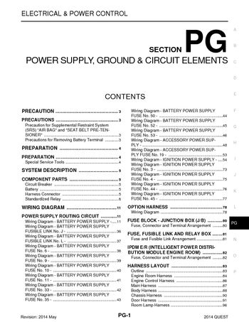 2014 Nissan Quest Power Supply Ground Circuit Elements Section Pg Pdf Manual 108 Pages