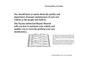 2005 toyota highlander repair manual information pdf 2 pages rh carmanuals2 com 2005 toyota highlander repair manual pdf 2005 toyota highlander repair manual free download