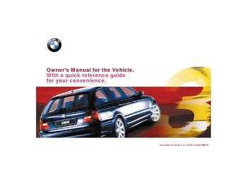 2001 bmw 325i owner s manual pdf 203 pages rh carmanuals2 com 2001 bmw owners manual x5 2001 bmw owners manual x5