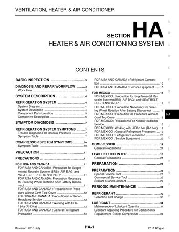 2011 nissan rogue heater air condition section ha pdf 2011 nissan rogue heater air condition section ha 57 pages sciox Image collections