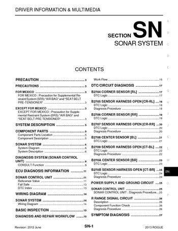 2013 nissan rogue sonar system section sn pdf manual 30 pages 2013 nissan rogue sonar system section sn 30 pages sciox Image collections