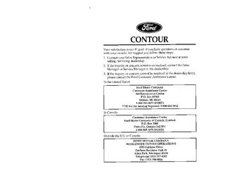 1996 ford contour owner s manual pdf 286 pages rh carmanuals2 com 1998 Ford Contour 1996 ford contour repair manual