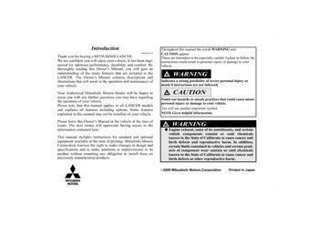 2010 mitsubishi lancer owner s manual pdf 670 pages rh carmanuals2 com mitsubishi lancer 2010 service manual 2014 Mitsubishi Lancer