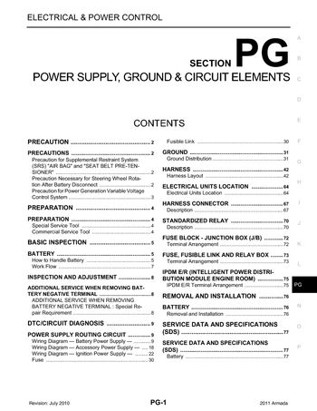 2011 nissan armada power supply ground circuit elements 2011 nissan armada power supply ground circuit elements section pg 77 pages