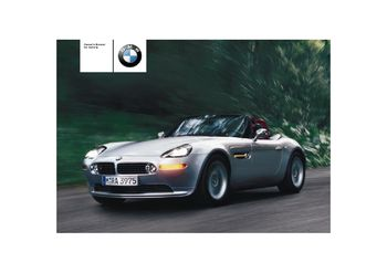 2002 bmw z8 convertible owner s manual pdf 174 pages rh carmanuals2 com BMW Z4 GT3 BMW Z9
