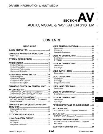 2014 nissan armada audio visual system section av pdf manual 2014 nissan armada audio visual system section av 469 pages sciox Choice Image