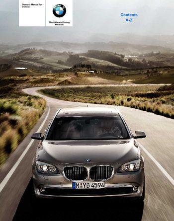 2010 bmw 750li sedan owner s manual pdf 280 pages rh carmanuals2 com 2006 BMW 750Li owners manual for 2009 bmw 750li