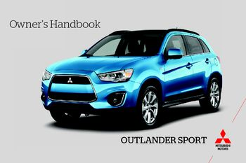 2013 mitsubishi outlander sport owner s handbook pdf manual 16 rh carmanuals2 com 2013 mitsubishi outlander sport owners manual 2013 Mitsubishi Outlander Sport Bluetooth