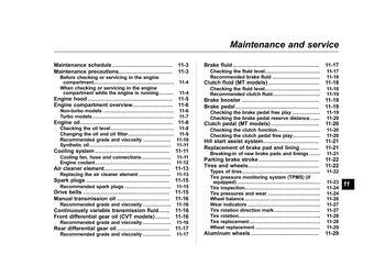 2014 subaru forester service schedule