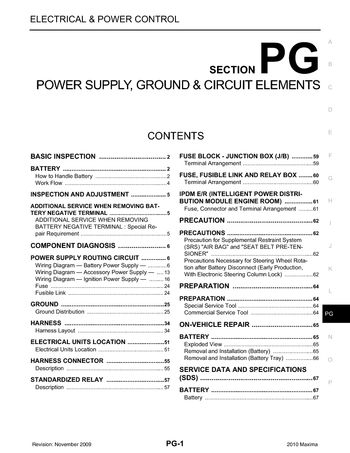 2010 nissan maxima power supply ground circuit elements 2010 nissan maxima power supply ground circuit elements section pg 67 pages