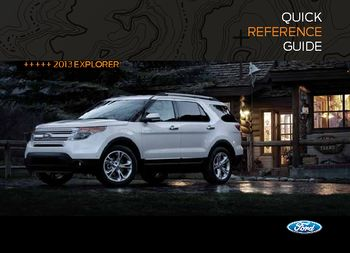 Download 2013 Ford Explorer Quick Reference Guide Pdf