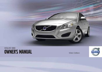 2012 volvo s60 owner s manual pdf 358 pages rh carmanuals2 com service manual volvo s60 2002 service manual volvo s60