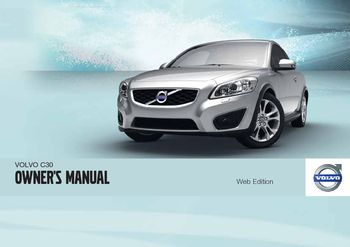 2011 volvo c30 owner s manual pdf 290 pages rh carmanuals2 com volvo c30 2008 user manual 2012 volvo c30 owner's manual