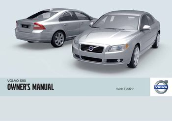 2010 volvo s80 owner s manual pdf 292 pages rh carmanuals2 com manual volvo skid steer free manuel volvo s80 1999
