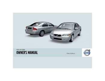 2009 volvo s60 owner s manual pdf 254 pages rh carmanuals2 com Ford Workshop Manuals Haynes Workshop Manuals
