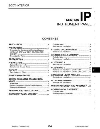 2013 nissan sentra instrument panel section ip pdf. Black Bedroom Furniture Sets. Home Design Ideas