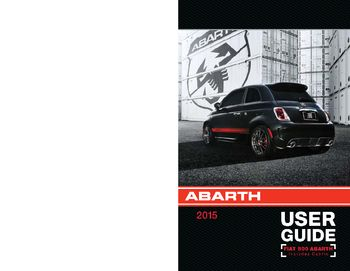 2015 fiat 500 abarth user guide pdf manual 108 pages rh carmanuals2 com fiat 500 pop user manual fiat 500 user manual 2012