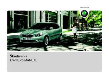 2011 koda fabia owner s manual pdf 244 pages rh carmanuals2 com Isuzu NPR Manual Peugeot 207 Manual